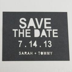 Save the Date Lasercut by KatBluStudio on Etsy, $3.58