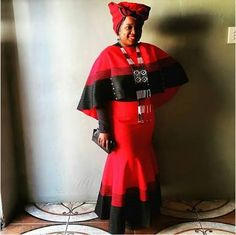 Image result for red and black umbhaco Sesotho Traditional Dresses, African Fashion Traditional, African Traditional Wedding, African Print Dresses, African Print Fashion, African Fashion Dresses, African Dress, African Clothes, African Wedding Attire