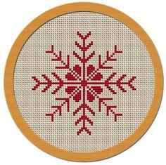 Holiday Snowflake Cross Stitch Pattern PDF File by Atinyshop, $4.00