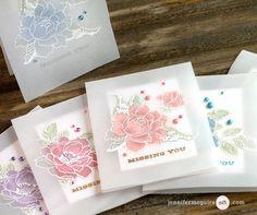 Vellum Overlay Card + Blog Hop + Giveaway   Jennifer McGuire Ink   Bloglovin'