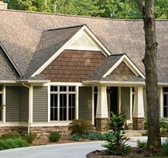 siding colors for craftsman style homes | The textures of the rock, siding and shingles make ... | Exterior col ...