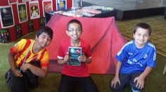 Fans of Tom's Ghost Stadium with an impressive tent that they made for the book!