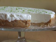 Martinkap: Nepečená tvarohovo - limetková torta