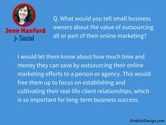 We interview @jennhanford on Social Media Marketing and Content Creation in our End of Year series on Online Marketing on our blog oroklinidesign.com