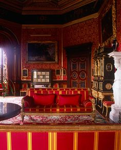 Alnwick Castle -- The 4th Duke's Drawing Room The 4th Duke's cinquecentro-style Drawing Room displays extremely rare survivors from Louis XIV's Palace of Versailles, the 1683 Baroque Cucci cabinets