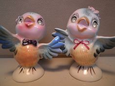 Vintage Bluebird Salt and Pepper Shakers by hopsack
