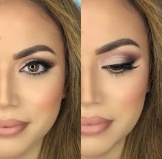 30 Wedding Makeup Ideas for Brides - Bridal Glam - Romantic make up ideas for the wedding - Natural and Airbrush techniques that look great with blue, green and brown eyes - rusti evening glow looks - thegoddess.com/wedding-makeup-for-brides