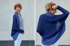 Don't let the dolman sleeves and modern silhouette fool you, this easy crochet shrug is made with basic stitches and simple shapes. Free beginner pattern!