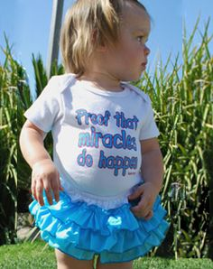 Proof That Miracles Do Happen Onesie - Christian Babies Onesie for $17.95 | C28.com