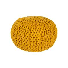 Decor 140 Ahanu Wool Pouf, Gold