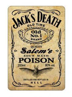 Halloween bottle label