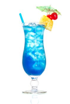 Blue Hawaii    Ingredients:    3/4 oz. light rum  3/4 oz. vodka  1/2 oz. blue curacao  3 oz. pineapple juice  1 oz. sweet & sour mix  Instructions:   Combine all ingredients   mix well  add ice  garnish with a slice of pineapple