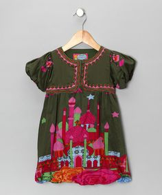 Take a look at this Olive City Dress by Rosalita Senoritas on #zulily today!