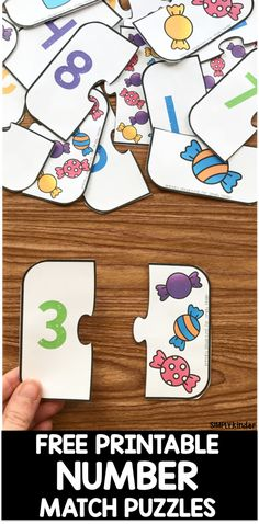 Free Printable Number Match Puzzles - Simply Kinder