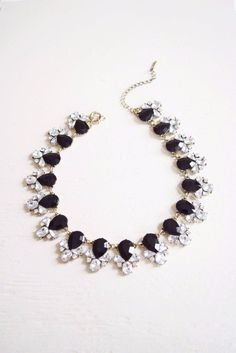 Black Crystals Collar | Statement Necklace | Cute Fashion Necklaces – MOD&SOUL - Contemporary Women's Clothing