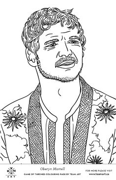 We Made Some Game Of Thrones Colouring Page Freebies Just