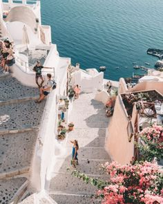 Gorgeous Santorini, Mykonos Greece. Greek islands. Bucket list wanderlust list of places to see and visit on a vacation trip to Europe.