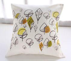 Decorative PILLOW cover Natural cotton cushion cover by Netamente, $35.00