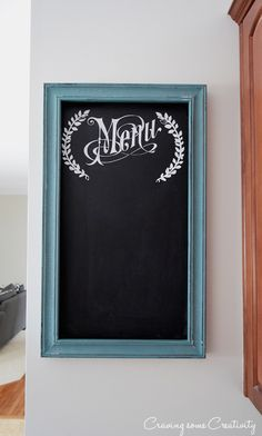 Chalk Board Menu Fra