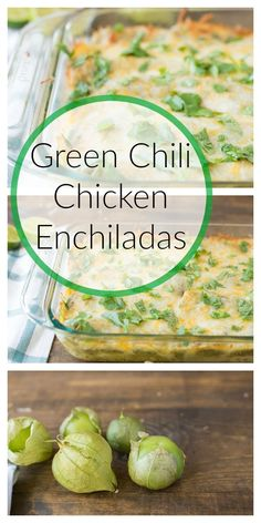 Green Chili Chicken Enchiladas Green Chili Chicken Enchiladas<br> In the mood for Mexican? These Green Chili Chicken Enchiladas with homemade sauce will hit the spot! Enchilada Ingredients, Recipes With Enchilada Sauce, Green Enchilada Sauce, Sauce Recipes, Chicken Recipes, Tomitillo Recipes, Healthy Chicken, Recipies, Green Chili Enchiladas