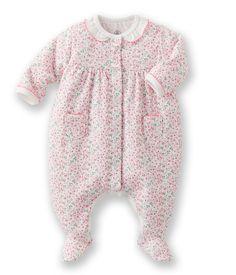 Dors bien bébé fille en tubique fleuri