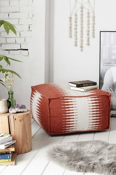 Wool Cube Pouf - Urban Outfitters