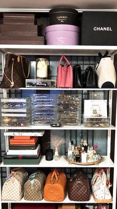 Ideas closet organization bags life for 2019 Wardrobe Organisation, Purse Organization, Organizing, Master Closet, Closet Bedroom, Bedroom Wall, Target Bedroom, 60s Bedroom, Modern Bedroom