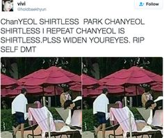 Chanyeol pls cover up or i'll have a heart attack ♡