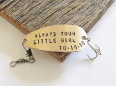 Father of the Bride Gift for Dad Always Your Little Girl Personalised Fishing Lure Mother of the Bride Gift for Mom Fathers Day Wedding Day