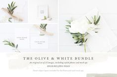 The Olive & White Bundle - 15 photos by White Hart Design Co. on @creativemarket