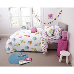Ombre Blu Ice Cream Quilt Cover Set Multicoloured Double