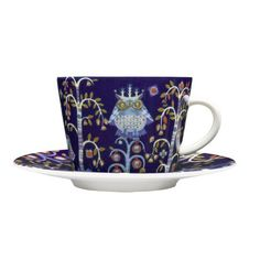 Taika Cappuccino Saucer, Blue - Heikki Orvola - Iittala - RoyalDesign.co.uk