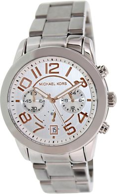 Michael Kors Mercer Silve Tone Women's Watch