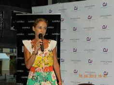 Carla Royo-Villanova en la presentación del Evento Luxeli Belleza