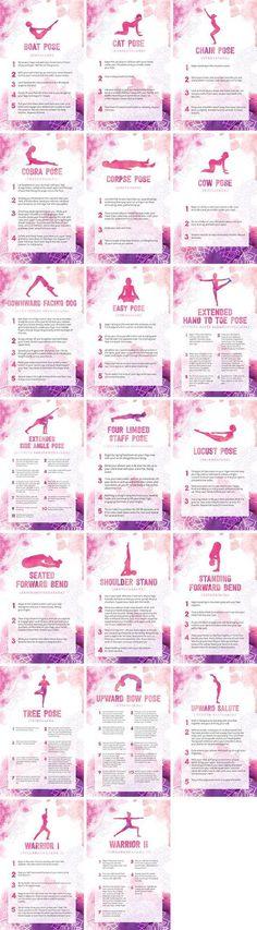 Beginner Yoga Poses Bundle By Healthinomics: