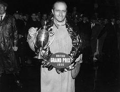 Juan Manuel Fangio - 1956 British Grand Prix Winner Silverstone F1, All Star, Classic Race Cars, British Grand Prix, The Right Stuff, F1 Drivers, F1 Racing, Car And Driver, World Championship
