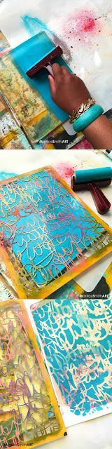 How to Make a Graffiti Surface Pattern with StencilGirl Stencils by Martice Smith II