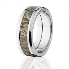 RealTree Max 4 Camouflage Titanium Rings, Camo Band, Camo Wedding Ring
