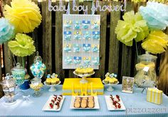 blue and yellow shabby chic