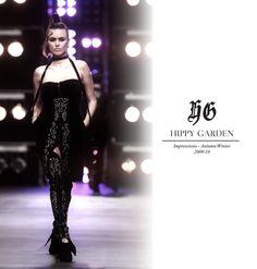 Hippy Garden Masarykova 5 www.hippygarden.com  Autumn/Winter 2009/10  #fashion #brand #design #hippygarden #croatia #masarykova5 #autumn #winter #black #dress