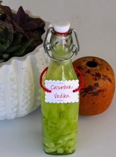 Make your own cucumber infused vodka! This would be great for Cucumber martini.
