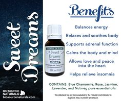 Sleep tight and sleep well with our Sweet Dreams Essential Oil Blend! #aromatherapy
