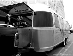 This custom mobile marketing and sales Airstream trailer was designed and built for Votre Vu, a leading skin care and cosmetics company.