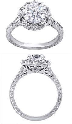 Edwardian Vintage Ribbon Engagement Ring