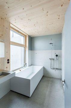 #wood #white #bathroom #interior