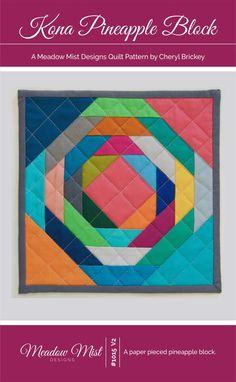 Kona Pineapple Block (Paper Pieced) | Bluprint