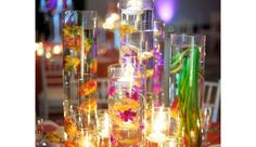 Colorful Centerpiece - DIY Wedding Decorations on a Budget
