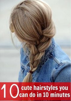 Can you believe you style all these hairstyles in 10 minutes?