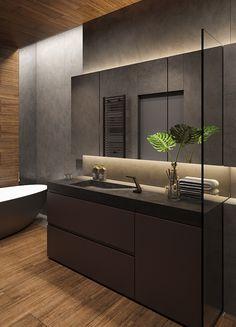 Scandinavian Bathroom Design Ideas, Bathroom Design Inspiration, Modern Bedroom Design, Modern House Design, Bathroom Mirror Design, Washroom Design, Bathroom Design Small, Bathroom Interior Design, Apartment Projects