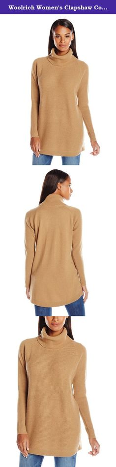 Woolrich Women's Clapshaw Cowl Tunic Sweater, Camel Heather, Small. Ward off winter's chills in our claps haw cowl tunic. Made of a cozy medium-weight nylon/wool/polyester blend, it's fully fashioned with a flattering cowl neckline, ribbed sleeves and hem, and a dropped back hemline. Tunic length (29 1/2 inch.
